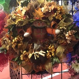 Other - Scarecrow fall wreath